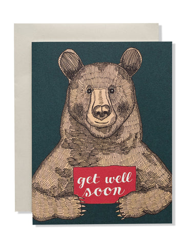 Get Well Soon Bear Card