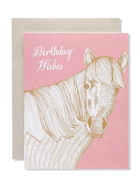 Birthday Wishes Horse Card