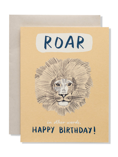 Roar. In other words, Happy Birthday! Card