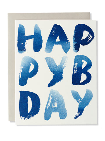 Happy B-Day Indigo Card