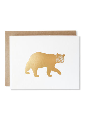Bear Gold Foil Card