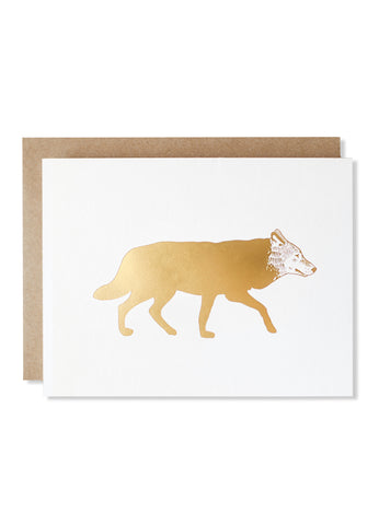 Wolf Gold Foil Card