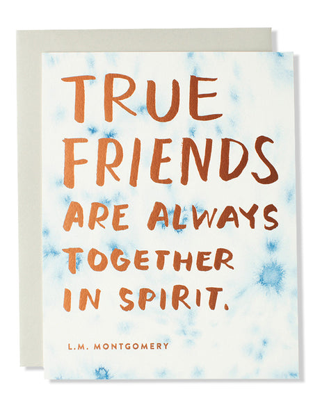 True friends are always together... Friendship Art Card