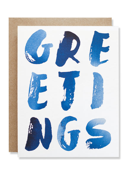 Greetings Indigo Card