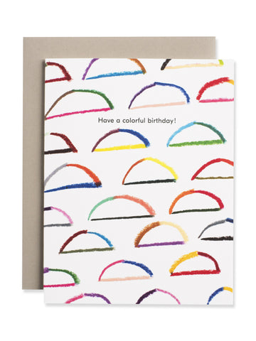 Have A Colorful Birthday Rainbow Card