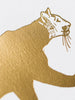 Mountain Lion Gold Foil Art Print