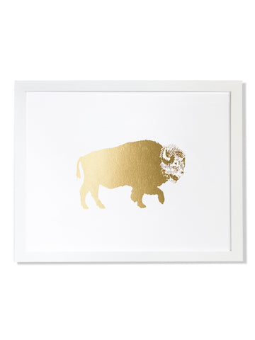 Bison Gold Foil Art Print