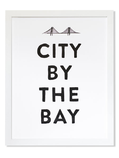 City by the Bay Letterpress Art Print