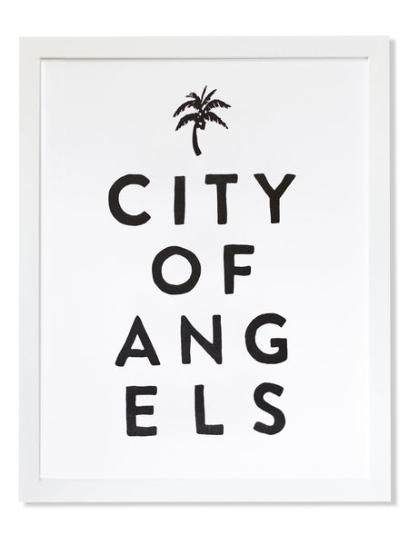 City of Angels Letterpress Art Print