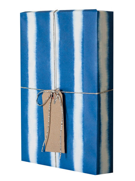 Indigo Stripes Gift Wrap
