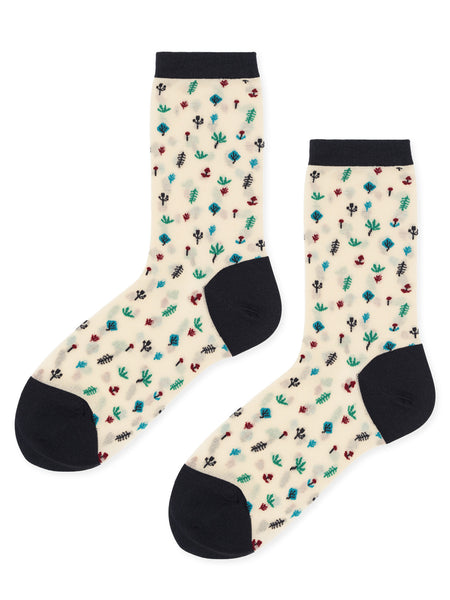 Botanical Sheer Socks