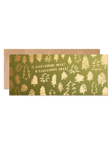 O Christmas Tree! Gold Foil Card