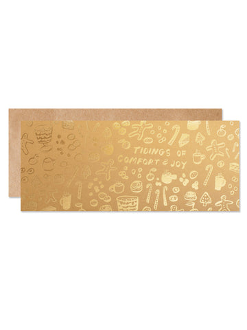 Tidings of Comfort & Joy Gold Foil Card