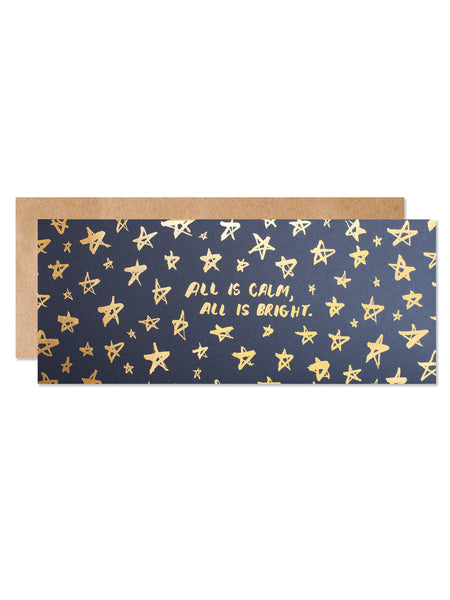 All is Calm, All is Bright Gold Foil Card