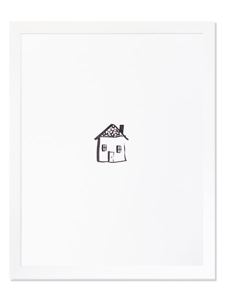 Home Icon Letterpress Art Print