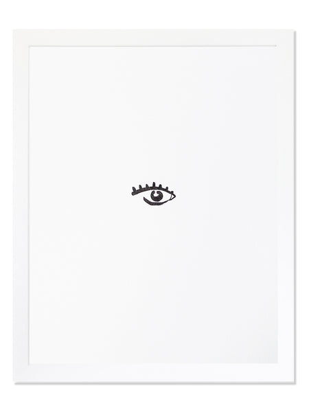 Eye Icon Letterpress Art Print
