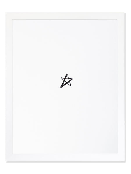 Star Icon Letterpress Art Print