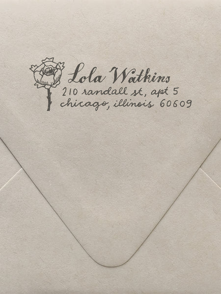 Rose Custom Stamp