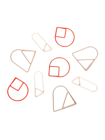 Paper Clips Red (set of 9)