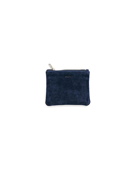 Small Flat Pouch: Midnight Suede
