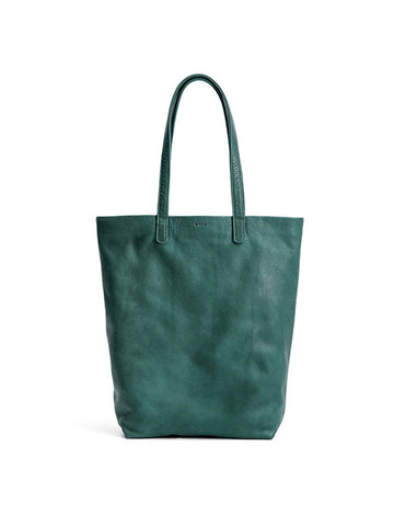 Leather Tote: Pine