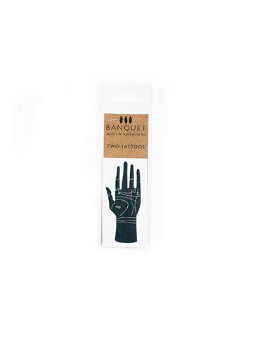 Palmistry Temporary Tattoos (Set of 2)