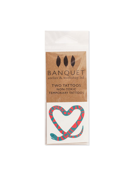 Snake Heart Temporary Tattoos (Set of 2)