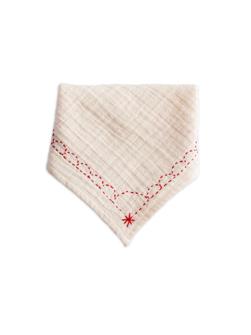 Organic Bandana Bib (Cherry Red)