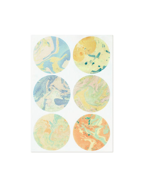 Marbled Sticker Set