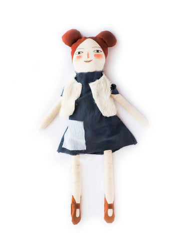 Handmade Doll - Blue Dress