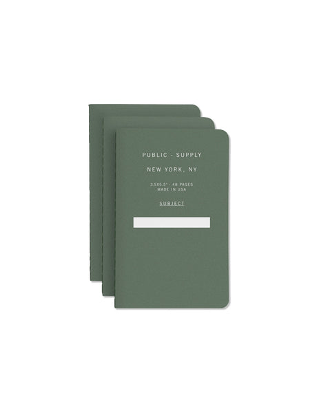 "3.5"" x 5.5"" Notebook: Green 01 (pack of 3)"