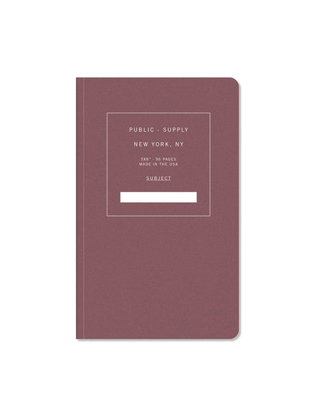 "5"" x 8"" Notebook: Red 01"