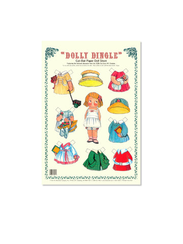 Dolly Dingle Cut-Out Paper Doll Sheet