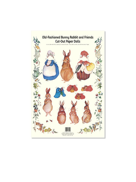 Old-Fashioned Bunny Rabbit and Friends Cut-Out Paper Dolls