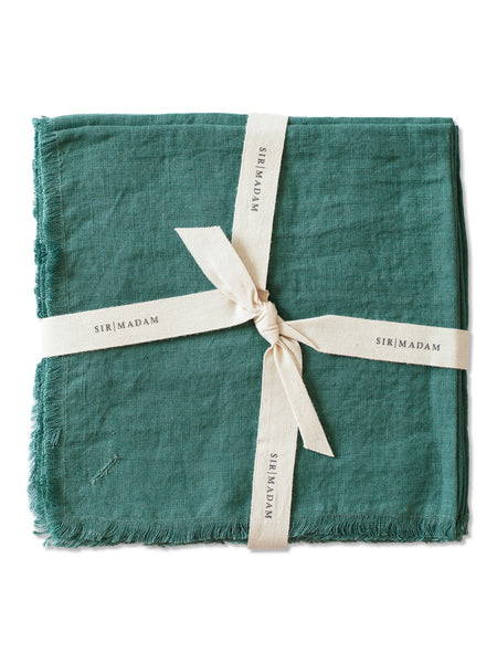Linen Napkins, Set of 4: Emerald