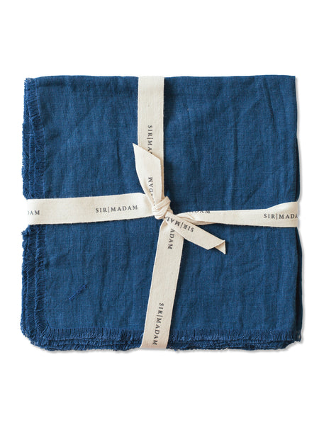 Linen Napkins, Set of 4: Indigo