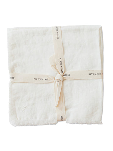 Linen Napkins, Set of 4: Oyster White
