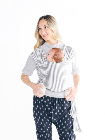 Solly Baby Wrap: Natural & Grey Stripe