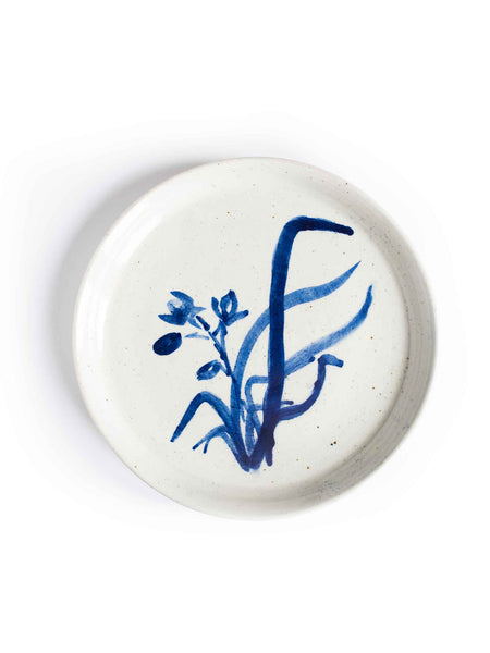 Vintage Hand-Painted Ceramic Plate