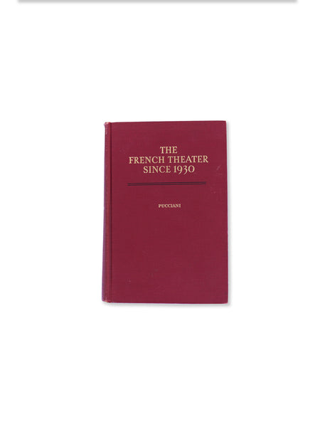 Vintage Book: The French Theater Since 1930