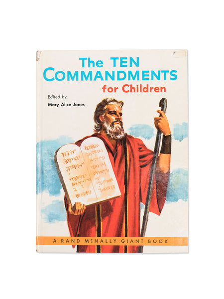 Vintage Book: The Ten Commandments For Children