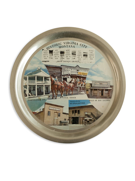 Vintage Virginia City Montana Tray