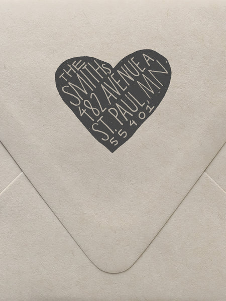 Scandi Heart Custom Stamp