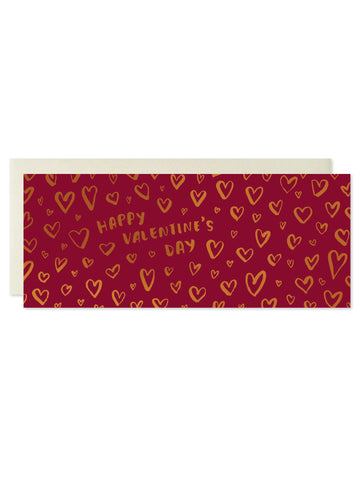 Happy Valentine's Day Copper Foil Card
