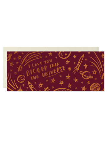 I Love You Bigger Than The Universe Copper Foil Card