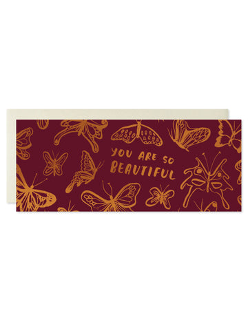 You Are So Beautiful Copper Foil Card
