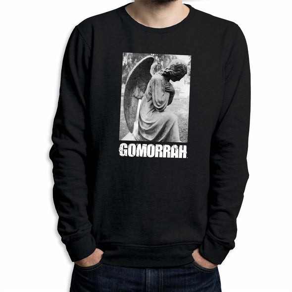 Gomorrah Boxed Angel & Logo Men's Black Sweatshirt
