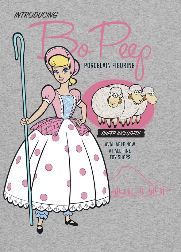 Disney Toy Story 4 Bo Peep Ladies Grey T-Shirt