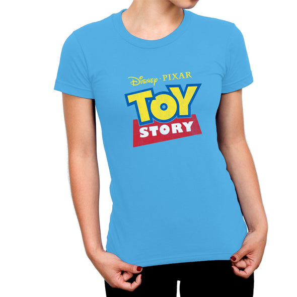 Toy Story Classic Logo Ladies Blue T-Shirt