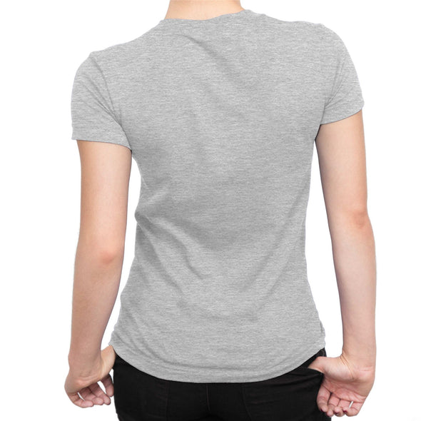 Deadpool Classic Logo Ladies Grey T-Shirt